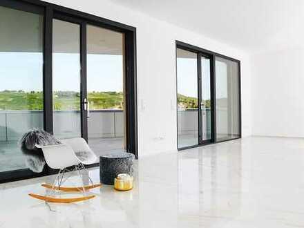 Erstbezug: Stilvolle, luxuriöse 3,5-Zimmer-Penthouse-Wohnung mit EBK und Balkon in Efringen-Kirchen