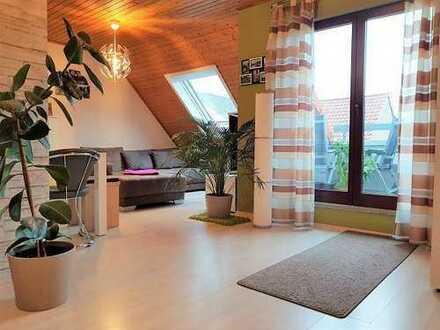 Jetzt zugreifen!! Lichtdurchflutete Dachgeschosswohnung-Maisonette mit Sonnenbalkon!!