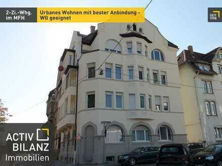 Urbanes Wohnen mit bester Anbindung - WG geeignet