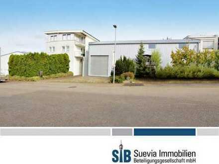 Einfamilienhaus mit Büroräumen und Halle auf einem 980 m² Grundstück in Hochdorf