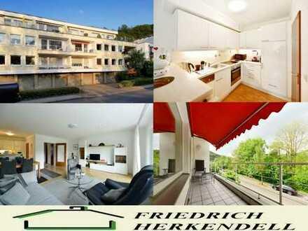 Balkon mit Sonnenmarkise und Ruhrblick + 1. Etage + Parkettböden + Einbauküche + Einzelgarage