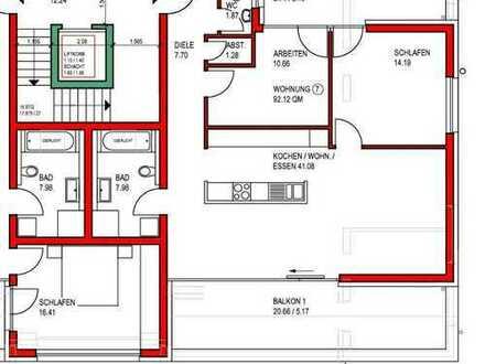 3-Zi. Penthouse Neubau/Reserviert
