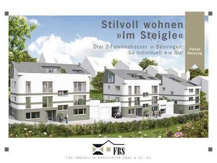 STILVOLL WOHNEN IM STEIGLE - 4 1/2 - Zimmer Garten-Maisonette (Neubau/2-Familienhaus)