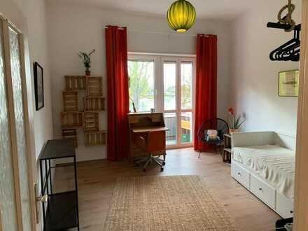Wunderschönes & lichtdurchflutetes Zimmer - mit direkten Blick auf den Rhein