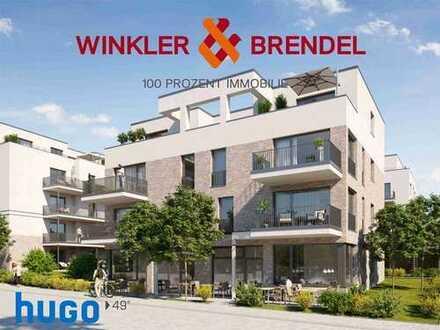 Neubau: Gehobene 2-Zimmer-Wohnung im Stadtquartier hugo49