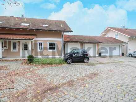 Schöne, gepflegte DHH mit Garten, Terrasse und 1-Zimmer-ELW für Familien oder Senioren