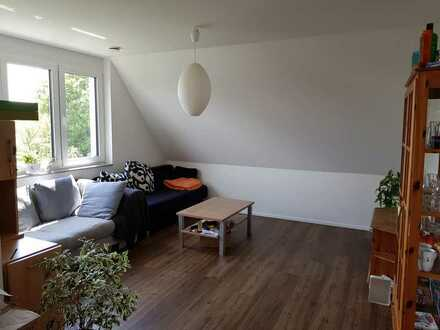 Shared flat with a large modern common area and a balcony in a fairly new house
