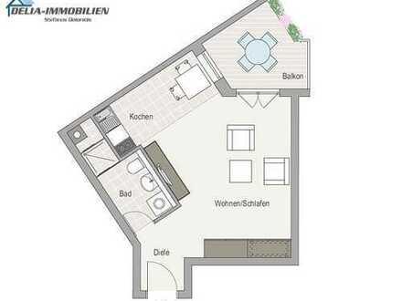 1-Zimmer-Wohnung in Augsburg - Firnhaberau / Lechhausen