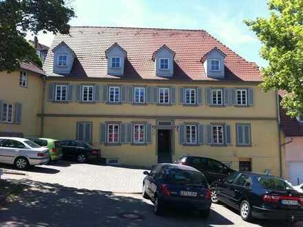 2-Zimmer-DG-Wohnung in saniertem Denkmal über zwei Ebenen mit West-Balkon/Terrasse in Ludwigsburg