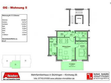 Neubau 9 Familienhaus Stühlingen- 3 Zimmerwohnung Obergeschoss