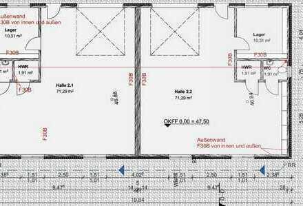 Gewerbehallen für Kleinunternehmer (3/6 Stck.)