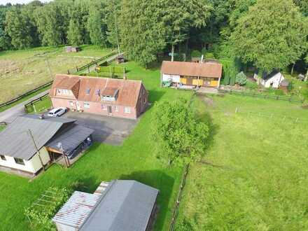 landwirtschaftlicher Resthof - mit Pferdeboxen, Wald und Wiesen