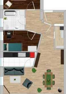 Schöne, helle 3,5 - Zimmerwohnung mit Balkon und 2 PKW-Stellplätzen