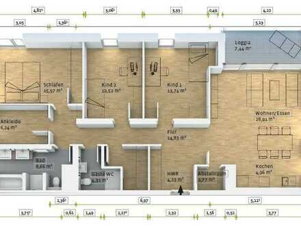 4-Zimmer-Wohnung im Stadtzentrum