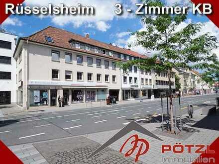 Sehr geräumige 3-Zimmer Dachgeschoßwohnung in der Rüsselsheimer Innenstadt