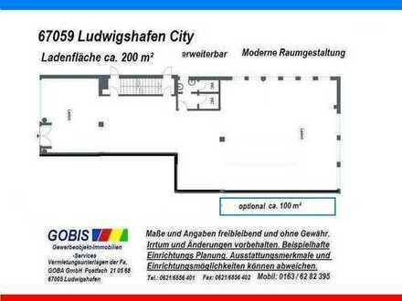 Lu City - Laden 200m² +Lager, Grundrissgestaltung !! auch Büro/Dienstleistungen - Top Lage