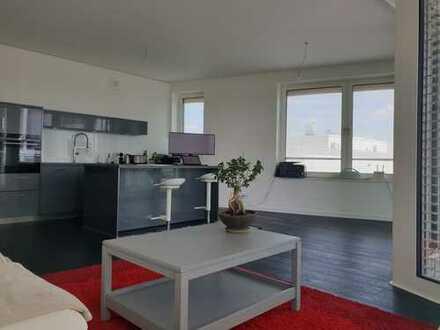 Hafencity Stillvolle 3-Zimmer-Neubauwohnung mit Balkon auf die Elbe