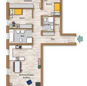 4 ZKB Neubauwohnung mit Garten in Nord- und Südausrichtung!
