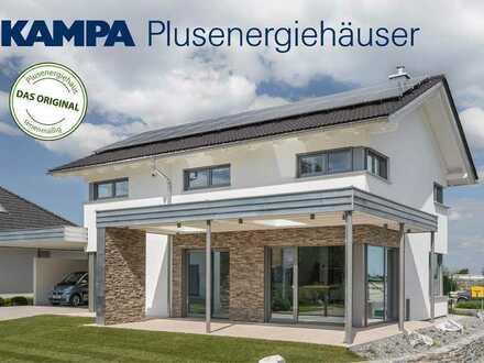 IHR TRAUMHAUS Bezugsfertiges Plusenergie-Haus mit sonnigem Baugrundstück