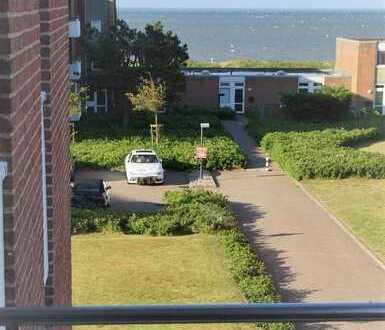 Provisionsfrei - Toller Blick, modernisierte 2-Zimmer-Wohnung mit Balkon und EBK in Wyk auf Föhr