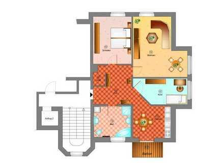 3 Raumappartement mit Balkon und schöner Wohnküche und ASR