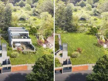 Traumlage gefunden! Baugrundstück in bester Hanglage für Bauhaus -Villa mit Doppelgarage