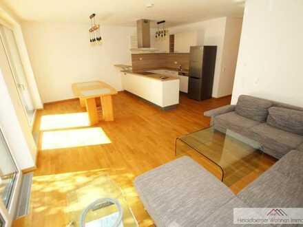 Neuwertige teilmöblierte 91m², 3 Zimmerwohnung mit TG Platz und KG in der Bahnstadt zu vermieten
