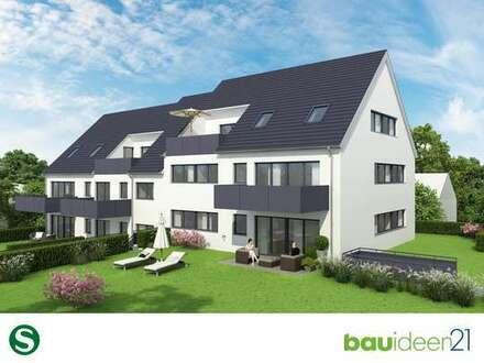 Ideal für Singles - Geräumige 2-Zi.-Wohnung mit eigenem Garten und Terrasse in Südwest-Ausrichtung