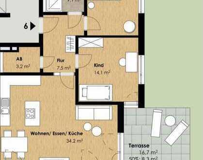 TAUSCHEN neuwertige 3-Zimmer-Erdgeschosswohnung mit Garten und EBK in Untermeitingen