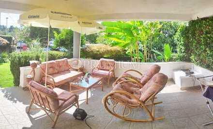 Malinska, zu verkaufen, drei-Zimmer-Wohnung mit wunderschönem Garten 90 m vom Meer entfernt!
