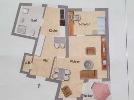 Seniorengerechte, gepflegte 2-Zimmer-Wohnung mit Balkon in Wetter