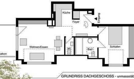 Unikat - 2,5-Zimmer-Wohnung mit Balkon und kleiner Galerie
