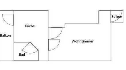 Erstbezug nach Sanierung: 1-Zimmer Wohnung in Osterholz