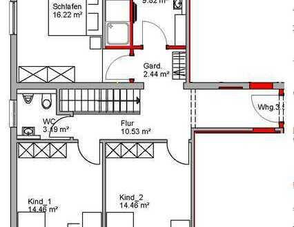 Erstbezug nach Sanierung: schöne 5-Zimmer-Wohnung mit Einbauküche und Terrasse in Tauberbischofsheim