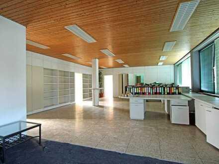 Großzügige Büroräume, Gewerbehalle, Außenfläche + Pausenidylle