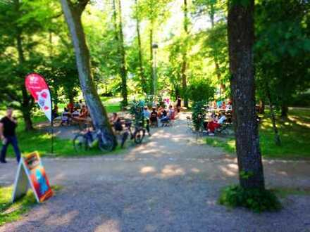 Biergarten-Kiosk sucht Nachfolger