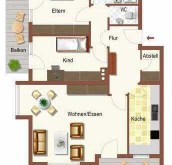 Gernlinden! zentral, ruhig, hell mit Süd- UND Westbalkon im 6-Familienhaus!