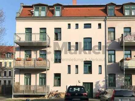 Ideal für Kapitalanleger! Sicher vermietete 2-Zi.-Wohnung in ruhiger, grüner Lage von Leipzig!