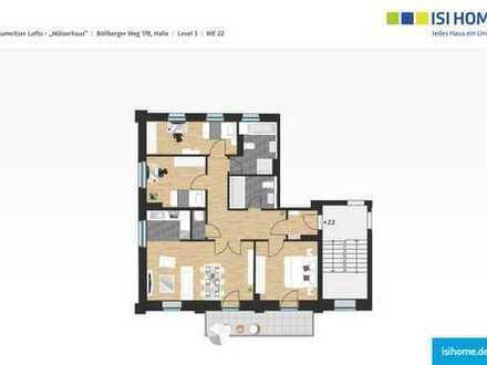 moderne 4-Raumwohnung mit Saaleblick zum Erstbezug