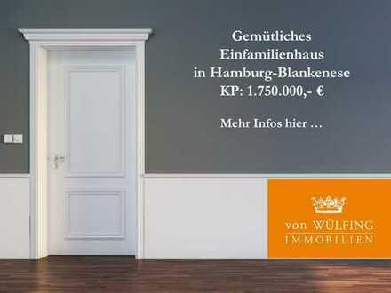 Direkter Elbblick: Gemütliches Haus in Hamburg-Blankenese....