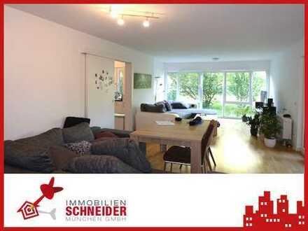 IMMOBILIEN SCHNEIDER - Trudering - wunderschöne 5 Zimmer Gartenwohnung mit Parkett, 2 Bäder