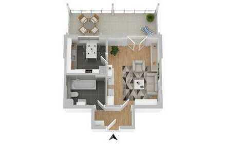 *** ideale Singlewohnung mit rießigem Balkon ***