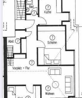Stilvolle, 3,5- Zimmer-Wohnung mit Einbauküche und Ausbaureserve in Kornwestheim