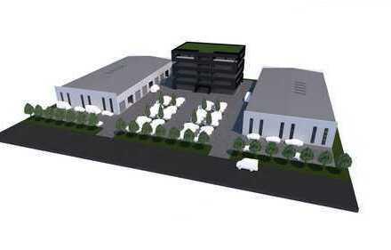 Neubau: Exclusives Bürogebäude mit Lagerhallen nach Mieterwunsch
