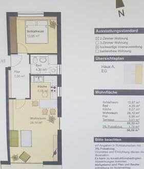 Ruhige, neuwertige 2-Zimmer-Wohnung im Zentrum Erdings
