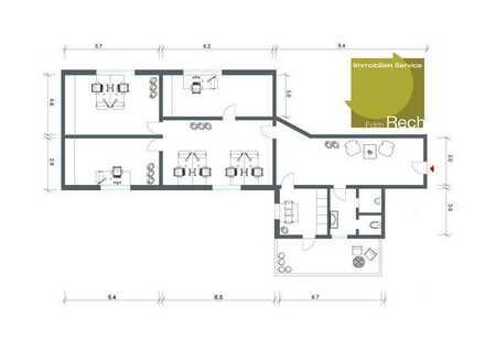 Büroetage mit 4 Büroräume, Empfang, Küche, WC * in zentraler Lage !