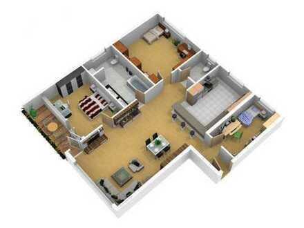Barrierefreie, sonnige 4-Zimmerwohnung unweit Bushaltestelle, Kindergarten und Schulen