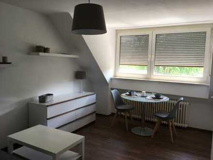 Schönes, modern möbliertes 1-Zimmer-Apartment mit herrlichem Ausblick in München, Obersendling