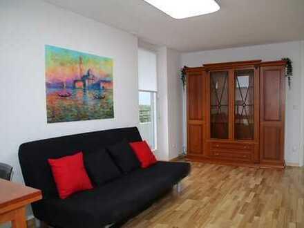 Helle, möblierte, 2-Zi-Penthouse-Wohnung, 60m², Park, U-Bahn, Dachterrasse, Panoramablick