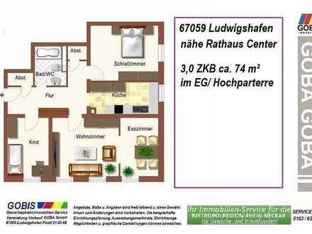 Lu City 01.05.2021 später- 3,0 ZKB 74 m² kompakte Wohnung - nahe Rathaus Center
